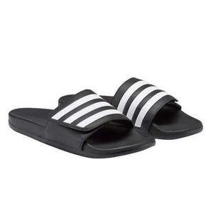 Men's Adidas Comfort Slides Sandals Black White
